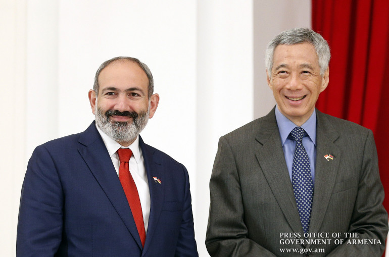 Armenian, Singapore PMs discuss broad range of issues on bilateral relations
