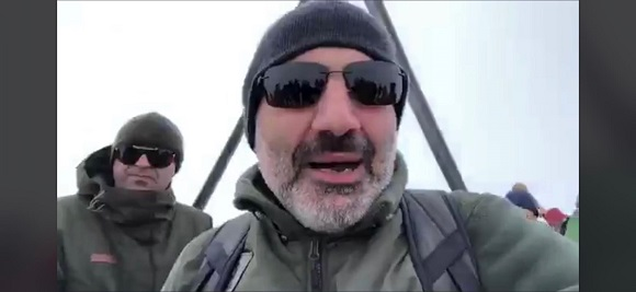 Nikol Pashinyan welcomes Presidents of Iran and US from the peak of Artanish (2461m)