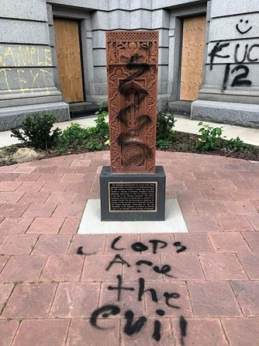 Armenian Genocide Memorial in Denver part of mass vandalism at Colorado State Capitol