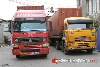 Երևանում հայտնվել է իրանական բեռնատար, որի վրա ՄԵԾ ՏԱՌԵՐՈՎ ԳՐՎԱԾ Է AZARBAYJAN