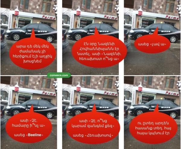 Տաքսու վարորդը փորձում է «խոսեցնել» Նազենի Հովհաննիսյանին