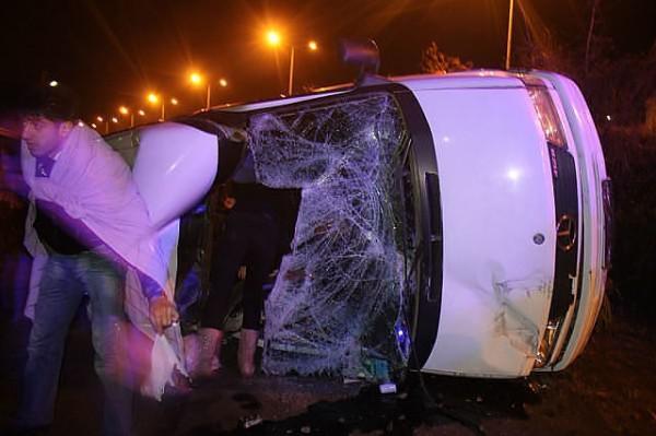 Հայ աթլետների ավտոբուսը շրջվել է Թուրքիայում