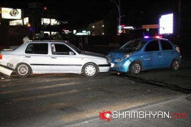 Երևանում բախվել են կին վարորդների ավտոմեքենաները. նրանցից մեկը  հայհոյել է գրեթե բոլոր ներկաներին