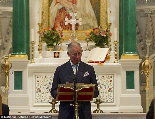 Prince Charles Visits St. Yeghiche Armenian Church in London