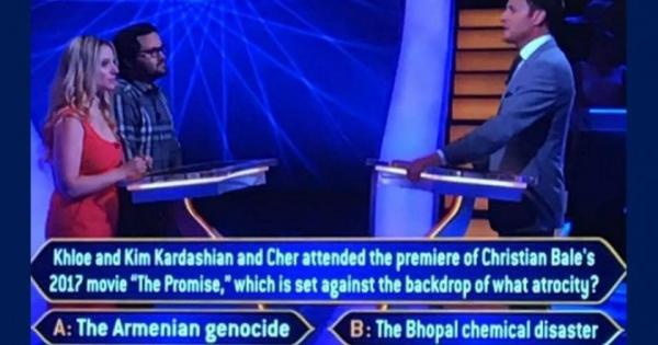 На вопрос о Геноциде армян ответили на британской версии шоу....