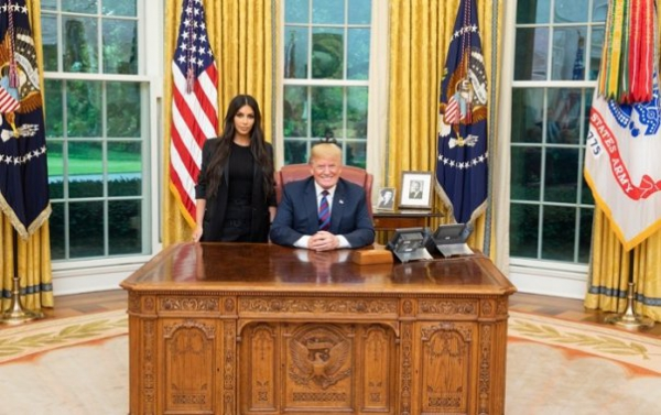 """Kim Kardashian West, a powerful advocate for criminal justice reform,joined us at the White House today"""