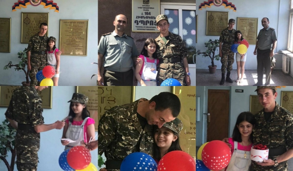 Տեսանյութ և լուսանկարներ`ինչպես է զինվորն այցելում իրեն նամա....