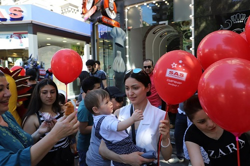 Sas Group organized different entertainments, a lot of surprises and presents for children