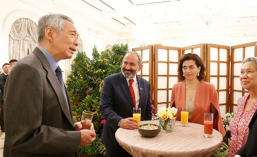 PM of Singapore  reminded Nikol Pashinyan that Street Times, the main daily newspaper in Singapore, has founded Armenian